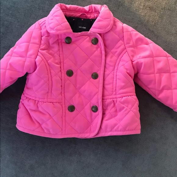 7daa06e38 Baby gap pink quilted jacket 0-6 months